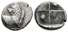 8 CHERSONESOS, Tracia. Hemidracma. 400-350 A.C. A/ Parte Delantera De León A Izquierda Con Cabeza Vuelta. R/ Cuatro Cuad - Spain