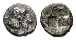 13 MACEDONIA, Aigai. Hemióbolo. 485-470 A.C. A/ Cabeza De Cabra A Derecha. R/ Cuatripartito Incuso. SNG Oxford 2232 Var. - Spain