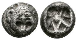 16 PARION, Mysia. Dracma. 500-475 A.C. A/ Gorgona De Frente. R/ Diseño Cruciforme Incuso. SNG Copenhagen 256. Ar. 3,82g. - Spain