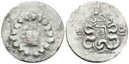 17 PERGAMON, Mysia. Cistophoro. 104 A.C. A/ Cista Mística Con Una Serpiente, Rodeada De Corona De Yedra. R/ Arco Entre S - Spain
