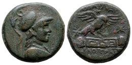 18 PHYRGIA, Apameia. AE20. 88-40 A.C. A/ Busto De Atenea Con Casco A Derercha. R/ Aguila Posandose Sobre Altar De Meandr - Spain