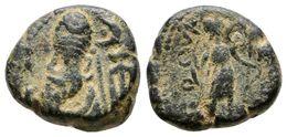 26 ELYMAIS, Phraates. Dracma. Primera Mitad Del Siglo II A.C. A/ Busto Barbado A Izquierda Con Tiara, Detrás Creciente Y - Spain