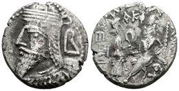 27 VOLOGASES VI. Tetradracma. 208-228 A.C. Reyes De Parthia. Seleukeia En El Tigris. A/ Busto Barbado A Izquierda Con Ti - Spain