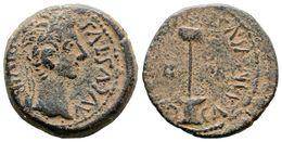 49 CAESARAUGUSTA. Semis. Epoca De Augusto. 27 A.C.-14 D.C. Zaragoza. A/ Cabeza Laureada De Augusto A Derecha. AVGVSTVS.D - Spain