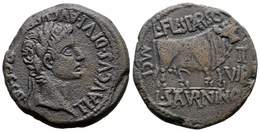 53 CALAGURRIS. As. Epoca De Tiberio. 14-36 A.C. Calahorra (La Rioja). A/ Cabeza Laureada De Tiberio, Alrededor TI.AVGVS. - Spain