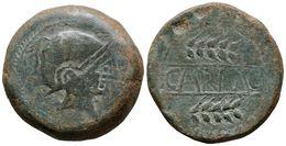 56 CARMO. As. 80 A.C. Carmona (Sevilla) A/ Cabeza Masculina A Derecha, Con Casco Dentro De Láurea. R/ CARMO Entre Dos Es - Spain