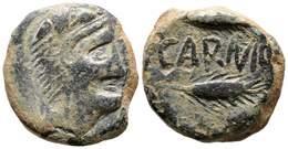 58 CARMO. As. 80 A.C. Carmona (Sevilla) A/ Cabeza De Hércules A Derecha. R/ Dos Espigas A Derecha, Entre Ambas CARMO. FA - Spain
