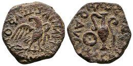 72 CARTAGONOVA. Semis. Epoca De Augusto. 27 A.C.-14 D.C. Cartagena (Murcia). A/ Aguila Sobre Rayos, Alrededor L. IVNIVS  - Spain