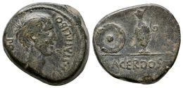 75 CARTAGONOVA. Semis. Epoca De Augusto. 27 A.C.-14 D.C. Cartagena (Murcia). A/ Cabeza De ¿Agrippa? A Derecha. CN. STATI - Spain