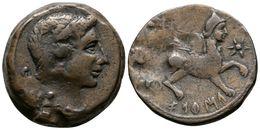 85 CASTULO. As. 180 A.C. Cazlona (Jaén) A/ Cabeza Masculina Diademada A Derecha R/ Esfinge Avanzando A Derecha, Delante  - Spain