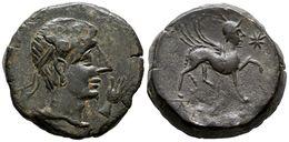 87 CASTULO. As. 180 A.C. Cazlona (Jaén) A/ Cabeza Masculina Diademada A Derecha, Delante Mano. R/ Esfinge Avanzando A De - Spain