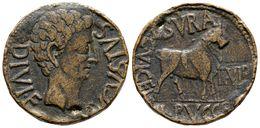 94 CELSA-KELSE. As. Epoca De Augusto. 27 A.C.-14 D.C. Velilla De Ebro (Zaragoza) A/ Cabeza De Augusto A Derecha. AVGVSTV - Spain