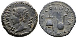 98 COLONIA PATRICIA. Semis. Epoca De Augusto. 27 A.C.-14 D.C. Córdoba. A/ Cabeza De Augusto A Izquierda Alrededor Leyend - Spain