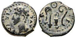 99 COLONIA PATRICIA. Cuadrante. Epoca De Augusto. 27 A.C.-14 D.C. Córdoba. A/ Cabeza De Augusto A Izquierda Alrededor Le - Spain