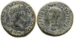 100 COLONIA ROMULA. Dupondio. Epoca De Tiberio. 14-36 A.C. Sevilla. A/ PERM. DIVI AVG. COL. ROM. Cabeza Radiada De Augus - Spain