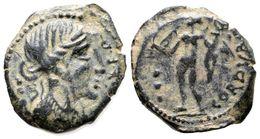 103 CORDUBA. Semis. 50 A.C. Colonia Patricia (Córdoba). A/ Cabeza De Venus A Derecha, Delante (C.N.IVLI.)L.F.Q., Detrás  - Spain