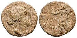 104 CORDUBA. Plomo Tipo Semis. 50 A.C. Colonia Patricia (Córdoba). A/ Cabeza De Venus A Derecha. R/ Cupido Con Cornucopi - Spain