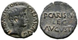 112 EMERITA AUGUSTA. As. Epoca De Augusto. 27 A.C. Mérida (Badajoz). A/ Cabeza Desnuda De Augusto A Derecha, Alrededor C - Spain