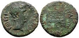 113 EMERITA AUGUSTA. As. Epoca De Augusto. 27 A.C. Mérida (Badajoz). A/ Cabeza Desnuda De Augusto A Derecha, Alrededor A - Spain