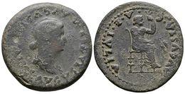 114 EMERITA AUGUSTA. Dupondio. Epoca De Tiberio. 14-36 A.C. Mérida (Badajoz). A/ Busto De Livia A Derecha, Alrededor Ley - Spain