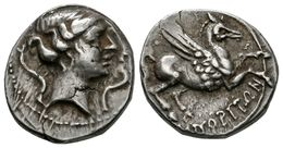 116 EMPORITON. Dracma. Sant Martí De Empúrias (Gerona). 220-150 A.C. A/ Cabeza De Perséfone-Aretusa A Derecha, Rodeada D - Spain