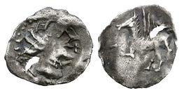 118 EMPORITON (Imitación Emporitana). Tritartemorión. Sant Martí De Ampurias (Gerona). 450-400 A.C. A/ Cabeza Femenina A - Spain