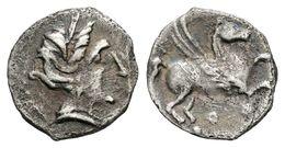 119 EMPORITON (Imitación Emporitana). Tritartemorión. Sant Martí De Ampurias (Gerona). 450-400 A.C. A/ Cabeza Femenina A - Spain
