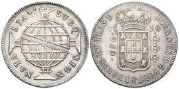 800 BRASIL. Johannes, Príncipe Regente. 960 Reis. 1810. Rio R. Km#307.3. Ar. Acuñada Sobre Un 8 Reales Español De Carlos - Spain
