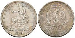 809 ESTADOS UNIDOS. Trade Dollar. 1873. San Francisco S. Km#108. Ar. 23,01g. Tono. MBC-. - Spain