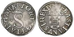 864 PORTUGAL. Sebastiao I. Vintem. 1557-1578. Gomes 29.02. Ar. 1,67g. MBC+. - Spain
