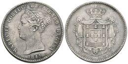 865 PORTUGAL. María II. 1000 Reis. 1845. Km#472. Leves Golpecitos. Ar. 29,48g. MBC+. - Spain
