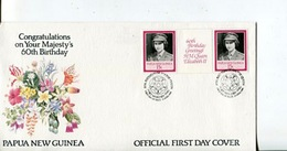 (10) Papua New Guinea FDC Special Cover - Queen's 60th Birthday - Papouasie-Nouvelle-Guinée