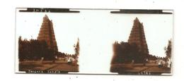 Plaque De Verre Stéréo INDES Tanjore Temple Des Années 1920 Des Etablissements STEREAL?¨N°20786 - Plaques De Verre