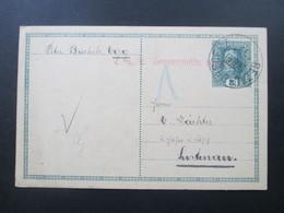 Österreich 1917 Ganzsache Mit Zensurstempel / KuK Zensurstelle. Bahnpost Bezau - Bregenz - 1850-1918 Imperium