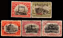 Guatemala-0076 - Emissione 1920-1921 (+/sg) Hinged/NG - - Guatemala