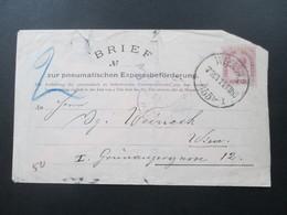 Österreich 1899 Rohrpost Umschlag RU 11 II Brief No 3 Wien. - 1850-1918 Imperium