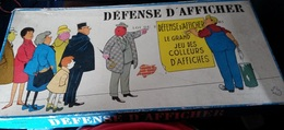 """Défense D'afficher """"Le Grand Jeu Des Colleurs D'affiches"""" (1960) - Group Games, Parlour Games"""