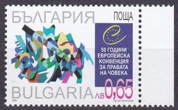 2000, Bulgarien, 4492,  50 Jahre Europäische Menschenrechtskonvention. MNH ** - Bulgarie