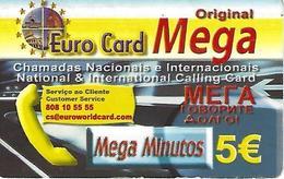 Euro Card Mega Original Prepaid Phonecard - Portugal - Portugal