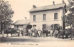 CPA - 37, RICHELIEU - La Gare - LL - Altri Comuni
