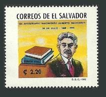 EL SALVADOR 1993 MASFERRER SOCIOLOGIST FAMOUS PEOPLE SET MNH - El Salvador