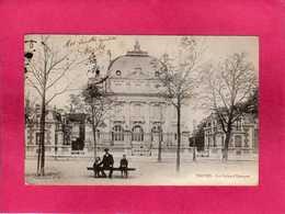 10 Aube, Troyes, La Caisse D'Epargne, Animée, 1904, (S. B. W.) - Troyes