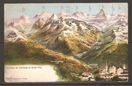 Carte P ( Suisse / Vallées De Zermatt Et Saas Fée ) - VS Valais