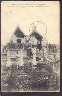 1914-15. - SAINT-JULIEN (Langemark) Beschoten Kerk - Langemark-Poelkapelle