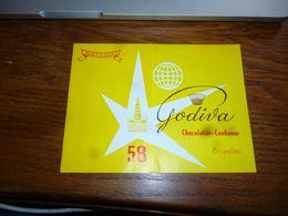 AA4-5 Dépliant Bruxelles Expo 58 Carte Participant Chocolatier Confiseur Godiva - Dépliants Touristiques