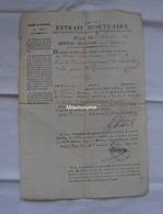 AVIS DE DÉCÈS SOLDAT GUERRE ESPAGNE NAPOLEON 1809 - Magazines & Papers