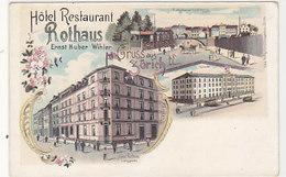 Zürich - Gruss Vom Hotel Rothaus - Langstrasse - Litho - Nicht So Häufig          (P-142-60729) - ZH Zurich