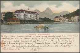 Waldstätterhof, Brunnen, Schwyz, 1904 - Beeler U/B AK - SZ Schwyz