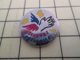 811j Pin's Pins / Beau Et Rare : Thème ASSOCIATION / MAIN AILEE SECOURS POPULAIRE - Associations