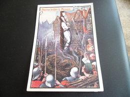 CPA De L'illustrateur Jean Droit - Jeanne D'Arc - Jeanne Brulée à Rouen - Droit
